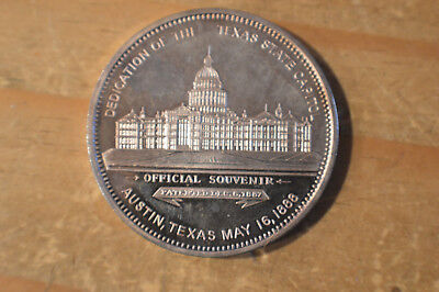 1988 TEXAS STATE CAPITOL CENTENNIAL MEDAL Proof Coin Large 2oz .999 silver