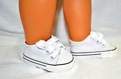 """Our Generation American Girl Doll 18"""" Dolls Clothes Shoes White Sneaker Runners"""