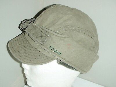 Vintage 1960's CC Filson  Winter Hunting Cap Wool lining inside  Size Large