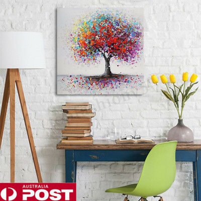 Colorful Tree Abstract Canvas Picture Unframed Print Painting Wall Art Decor AU