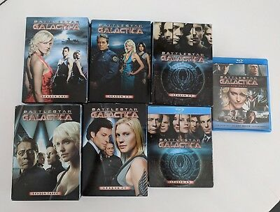 Battlestar Galactica Complete Series, DVD & Blu-ray. Includes Razor and The Plan
