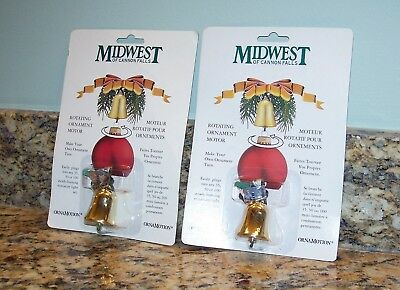 Midwest Cannon Falls Ornamotion Rotating Christmas Tree Ornament Motorized Bells
