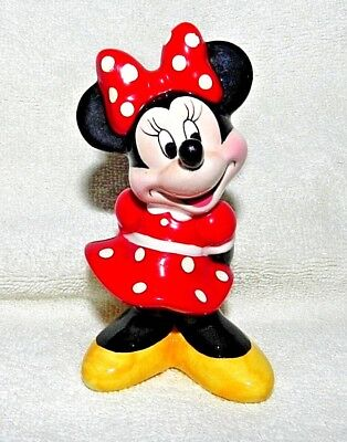 Disney's MINNIE MOUSE Ceramic Figurine Classic Polka Dotted dress yellow shoes