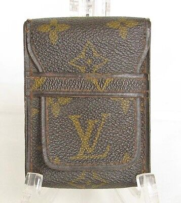 Authentic Vintage 1970s LOUIS VUITTON Cigarette Case Monogram Canvas Full Pack