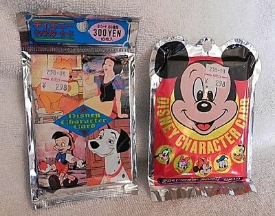 2 packs Disney Character cards bought in Japan