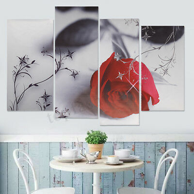 Modern Abstract Tree Flowers Art Canvas Prints Painting Picture Home Wall