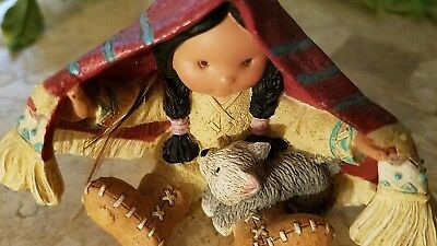 """1994 Enesco Friends of the Feather """"Brothers of the Earth"""" figurine 115681"""