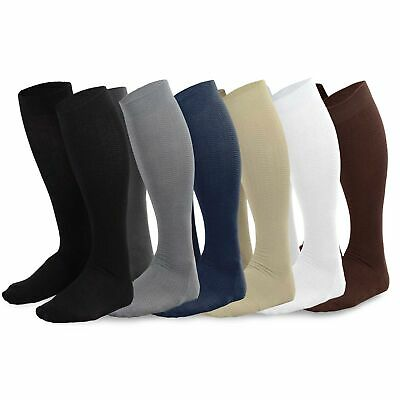 TeeHee Men's Bamboo Dress Over the Calf Socks Assorted Color 3-Pack or 6-pack