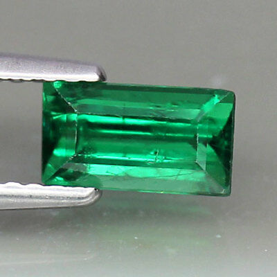 1.05ct.BAGUETTE CUT 100%NATURAL EMERALD GREEN TSAVORITE GARNET GEMSTONE
