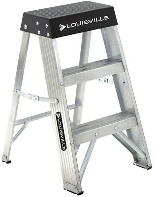 Louisville Ladder 2 ft.Aluminum Step with 300 lbs.Load Capacity Type Duty Rating