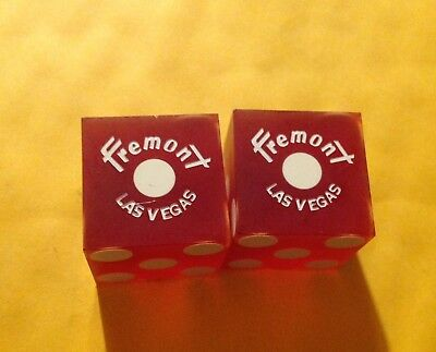 Vintage Pair Of Casino Dice From The Fremont Las Vegas