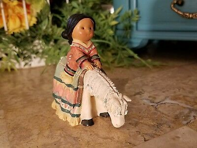1998 Enesco Friends of the Feather child on horse figurine 477656