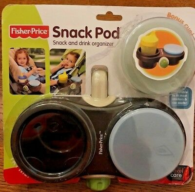 Baby Child Toddler Fisher Price Snack Pod Stroller Car Seat Drink Organizer NEW