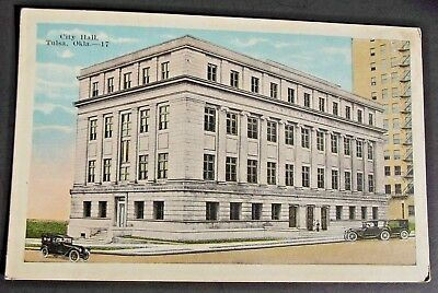 Antique 1917 Postcard featuring the former City Hall in downtown Tulsa, Oklahoma