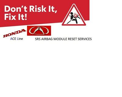 All Honda / Acura Srs Airbag Module Reset And  Repair Service
