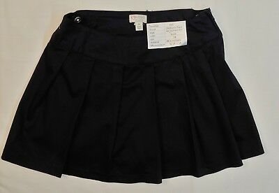 The Childrens Place Girl's School Uniform Skirt Scooter Black Size 14 Pleated