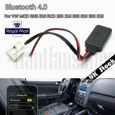 Bluetooth 4.0 Auxiliary 12 PIN Adapter Cabel For RNS 510 RCD 200 210 300 310
