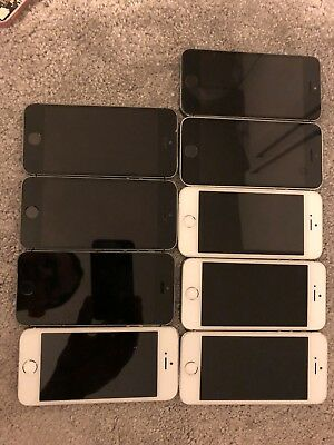 Job Lot Of 9 X Apple Iphone 5S Untested