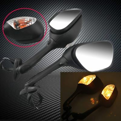 L&R Unfold Rear View Mirrors w/ Turn Signal Light For Suzuki GSXR600/750 06-2013