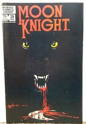 MOON KNIGHT #29 - 1980 First Series Nice Condition MARVEL COMICS Hot series