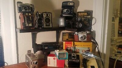 Vintage Lot of Cameras, Movie Cameras, and Accessories!