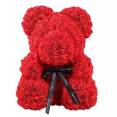 """15"""" Teddy Rose Bear /w Heart bow 2019 Valentine Birthday Gifts For Her  BBBppqq"""