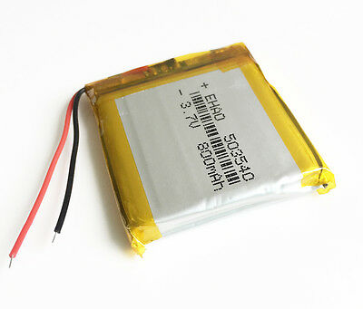 3.7V 800mAh Lipo rechargeable Battery For MP3 Recorder GPS PDA Camera DVD 503540