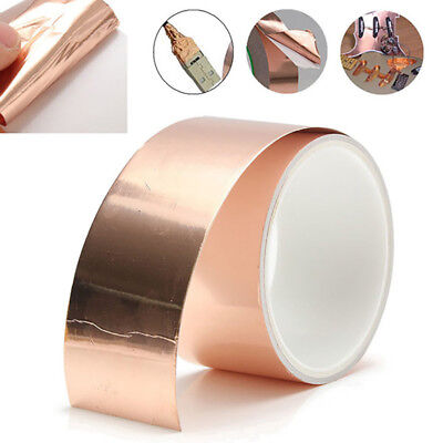 3m*50mm Guitar Pickup Shielding Screening Copper Foil Tape Conductive Adhesive L