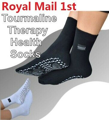 Self Heating Magnetic Tourmaline Therapy Health Socks Infrared Foot Pain Warmth