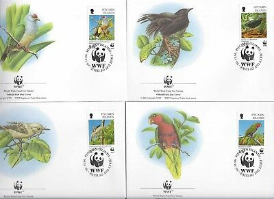 Vogels wwf 1996  fdc  Papegaai zangevogels Pitcairn Islands