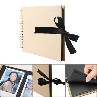 80 Pages DIY Photo Album Scrapbook Vintage Kraft Paper Photo Album Scrapbook AC