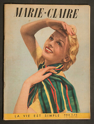 'marie-Claire' French Vintage Magazine 26 August 1938