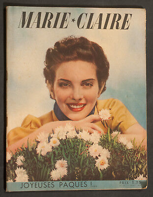 'marie-Claire' French Vintage Magazine Easter Issue 15 April 1938