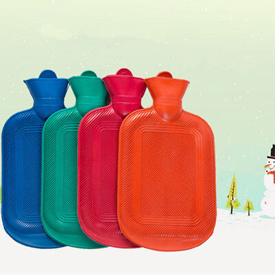 1.5 Liter Hot Water Bottle Hotwater Natural Rubber Warmer Hot Therapies Green