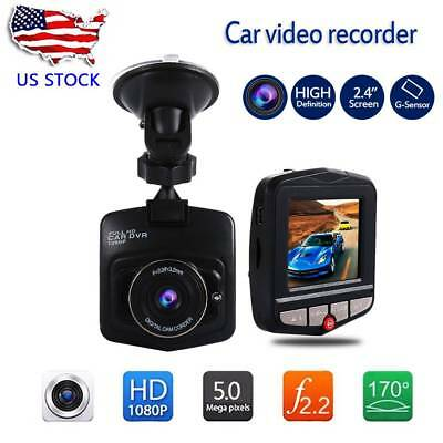 Dash Cam 2.4'' 1080P Full HD Car DVR Video Recorder Night Vision G Sensor
