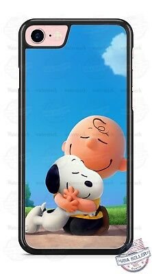 Charlie Brown Hugging Snoopy Phone Case for iPhone X PLUS Samsung Google LG etc.