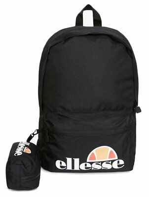 20f2d37daa0e ELLESSE BLACK ROLBY Backpack with Free Pencil Case - £18.99 ...