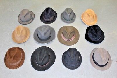 Vintage Wholesale Lot Felt Trilby Hat Mix x 50 *SALE*