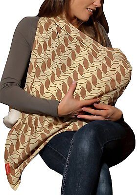 Mama Designs - Mamascarf breastfeeding scarf - Retro Leaf - Single
