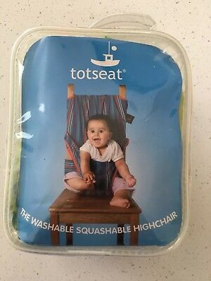 Baby Totseat Fabric Portable Highchair Green Striped