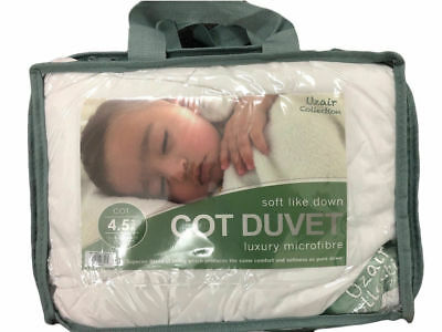 Anti Allergy Microfibre Baby Toddler Cot Bed Quilt Duvet Soft Down 4.5 TOG