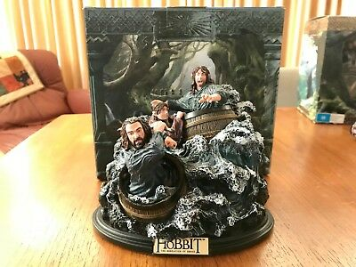 Barrel Riders WETA Statue - From The Hobbit The Desolation of Smaug Ltd Ed.