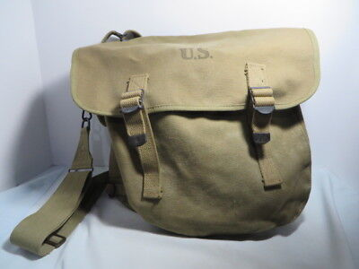 WW2 US Army M1936 Musette Bag, Canvas Dated 1942 Bearse MFG. Co Nice with strap