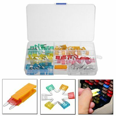 120pcs Mini Blade Fuse Assortment Set Auto Car Fuses Assorted Kit 5-30A + Puller