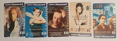 Sony Music 1-Hole Telstra Phonecard Set