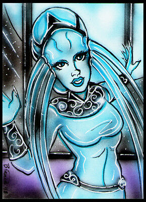 5th/Fifth Element PLAVALAGUNA Diva Sketch Card Painting by Bianca Thompson