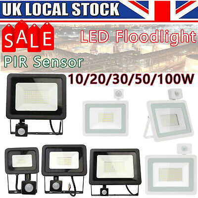 PIR MOTION LED SECURITY LIGHT/30/50/100W FLOODLAMP GARDEN OUTSIDE Security TOP