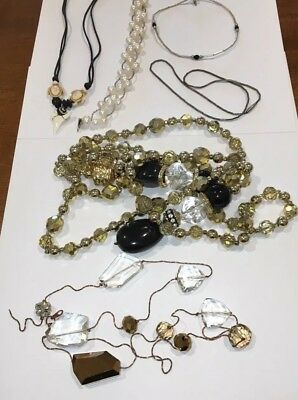 Lot Of Vintage To Modern Jewelry-Genuine Fresh Water Pearls, Glass Beads, Sharks