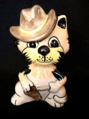 Lorna Bailey Cat Rick The Cowboy With Stetson Hat Signed New