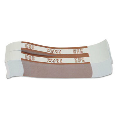 SecureIT Currency Straps 5000 Bands Brown For 100 US Banknotes Bundle of 1000